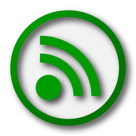 meta: Rss sign icon. Internet button on white background. Stock Photo