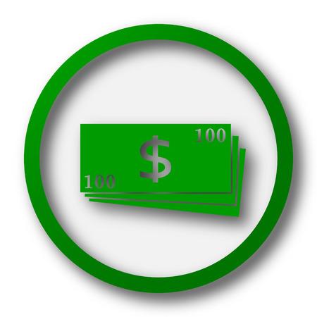 money button: Money icon. Internet button on white background.