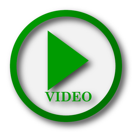 video icons: Video play icon. Internet button on white background.