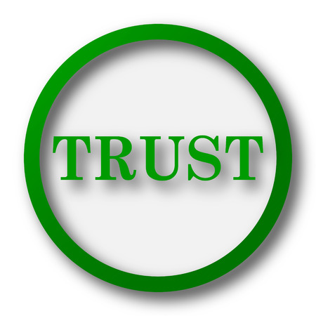 trust: Trust icon. Internet button on white background.