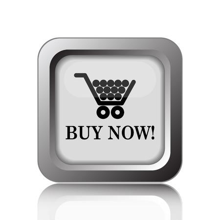 buy button: Buy now shopping cart icon. Internet button on white background. Stock Photo
