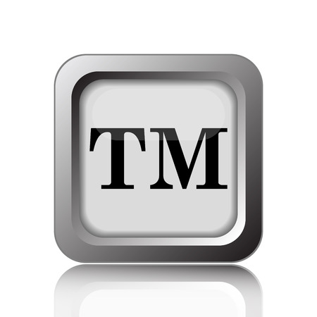 property management: Trade mark icon. Internet button on white background.