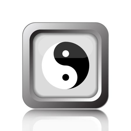 ying: Ying yang icon. Internet button on white background. Stock Photo