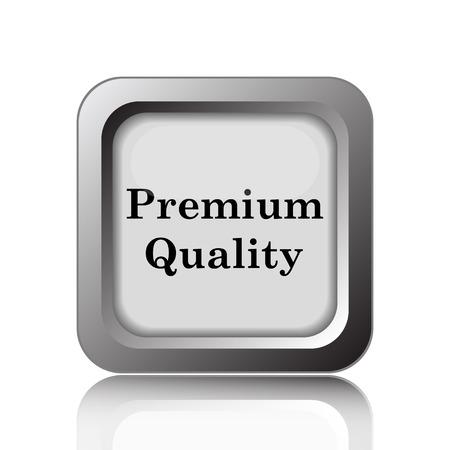 quality icon: Premium quality icon. Internet button on white background. Stock Photo