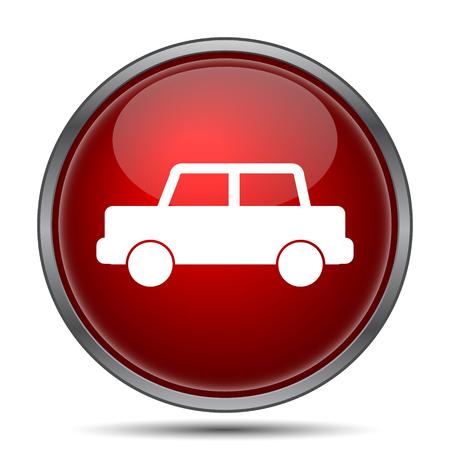 website background: Car icon. Internet button on white background.