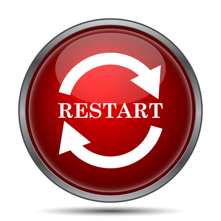 restart: Restart icon. Internet button on white background.