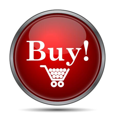 press button: Buy icon. Internet button on white background.