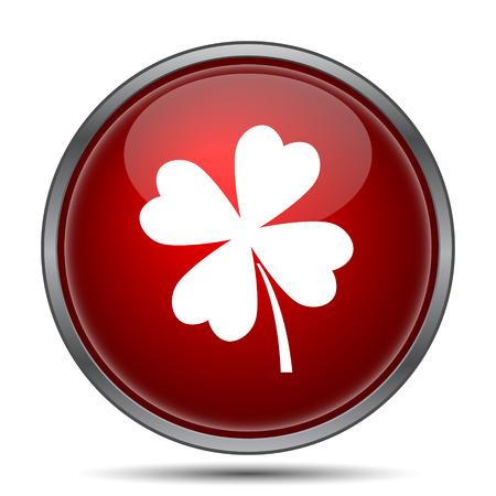 clover button: Clover icon. Internet button on white background.
