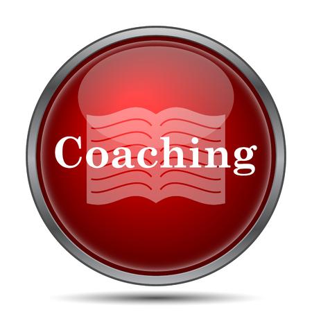 coaching: Coaching icon. Internet button on white background.