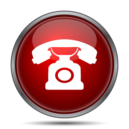 internet phone: Phone icon. Internet button on white background. Stock Photo