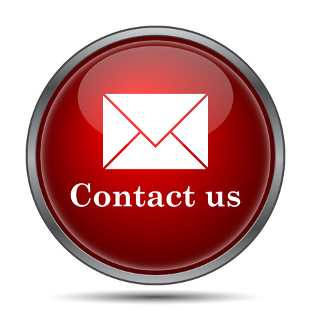 email icon: Contact us icon. Internet button on white background. Stock Photo