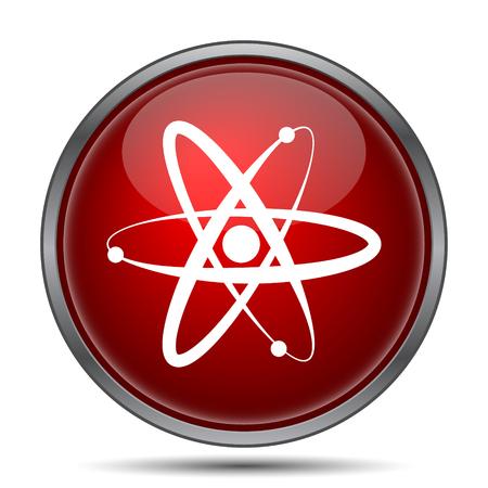 el atomo: Átomos icono. Botón de internet sobre fondo blanco.