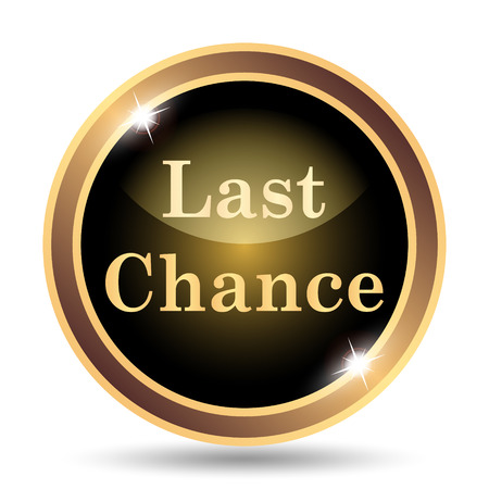 chance: Last chance icon. Internet button on white background. Stock Photo