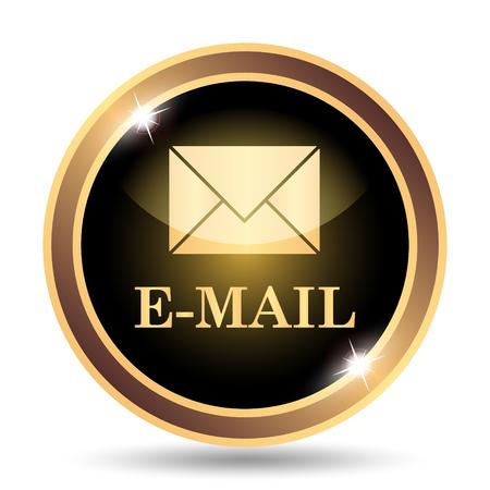 電子メール アイコン。白い背景の上のインター ネット ボタン。