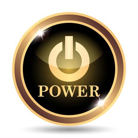switch: Power button icon. Internet button on white background.