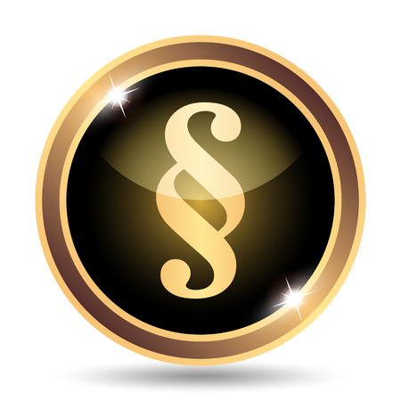 paragraph: Paragraph icon. Internet button on white background. Stock Photo