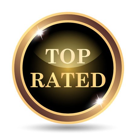 top class: Top rated  icon. Internet button on white background.