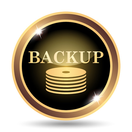 archiving: Back-up icon. Internet button on white background.