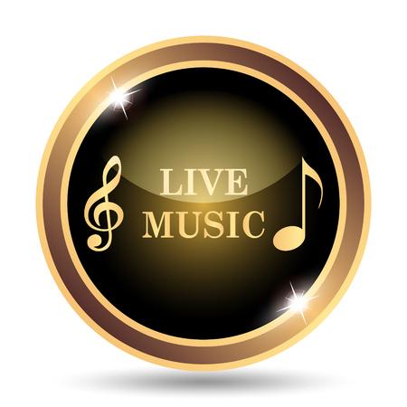 Live music icon. Internet button on white background. Фото со стока