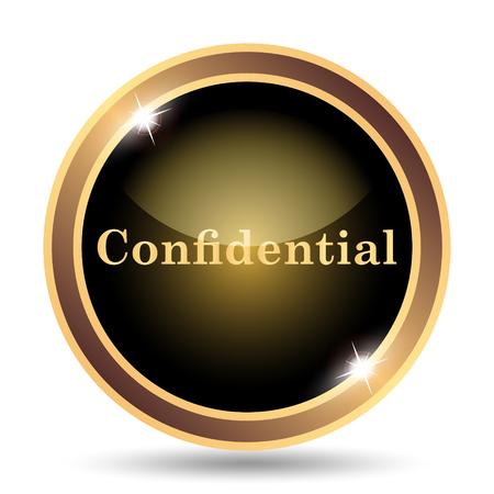 confidentiality: Confidential icon. Internet button on white background.