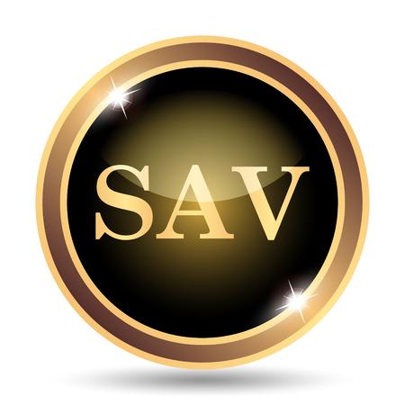 assessed: SAV icon. Internet button on white background. Stock Photo