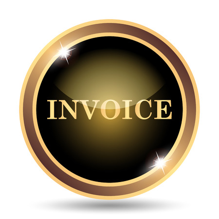 Invoice icon. Internet button on white background.