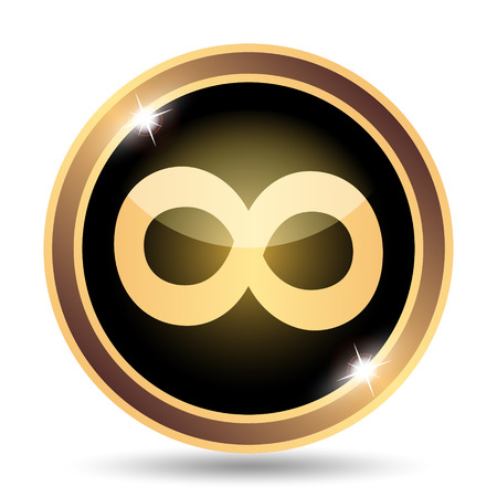 mobius strip: Infinity sign icon. Internet button on white background.
