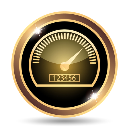 indicate: Speedometer icon. Internet button on white background.