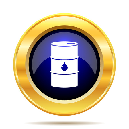 lubricant: Oil barrel icon. Internet button on white background. Stock Photo