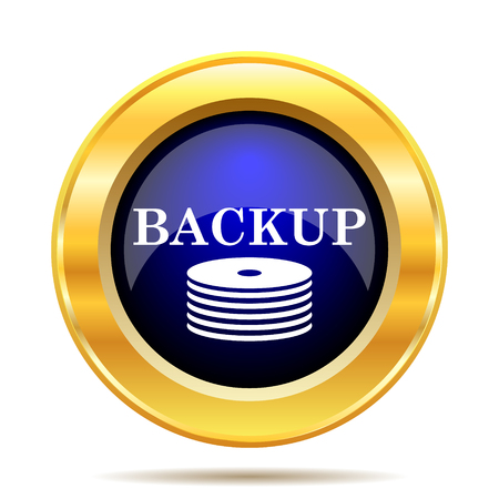 protected database: Back-up icon. Internet button on white background.