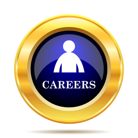vacancy: Careers icon. Internet button on white background.