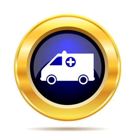 first aid sign: Ambulance icon. Internet button on white background.
