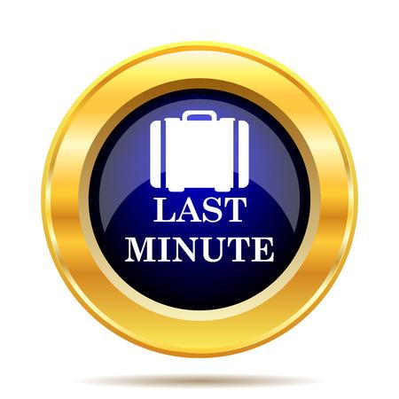 advantageous: Last minute icon. Internet button on white background.