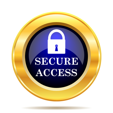 secure: Secure access icon. Internet button on white background.