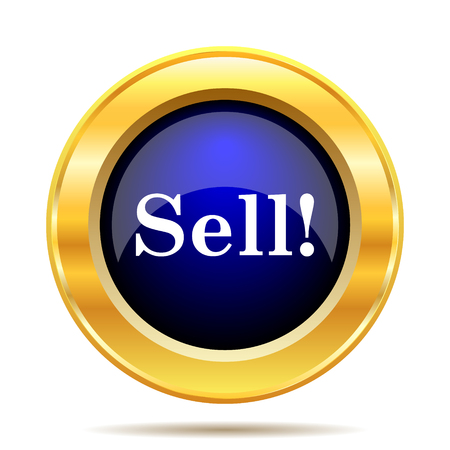 retailers: Sell icon. Internet button on white background.