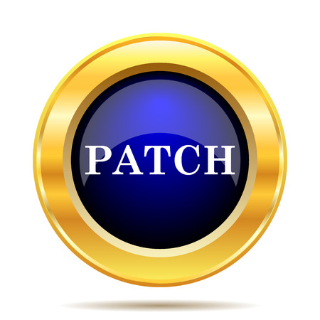 versions: Patch icon. Internet button on white background.