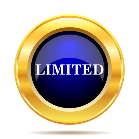 gold rush: Limited icon. Internet button on white background.
