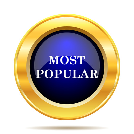 most: Most popular icon. Internet button on white background.
