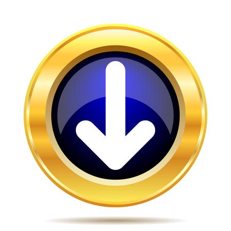 arrow icons: Down arrow icon. Internet button on white background.