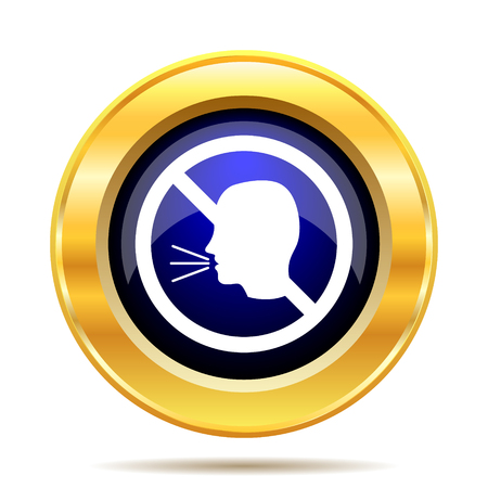 don't: No talking icon. Internet button on white background.