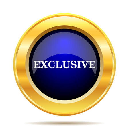 exclusive icon: Exclusive icon. Internet button on white background.