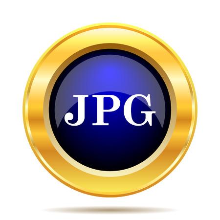file types: JPG icon. Internet button on white background.