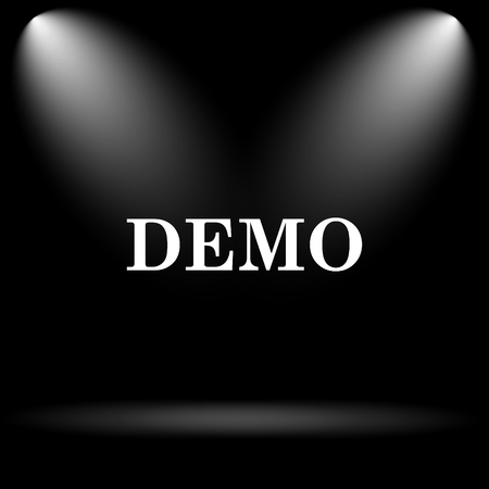 demo: Demo icon. Internet button on black background.