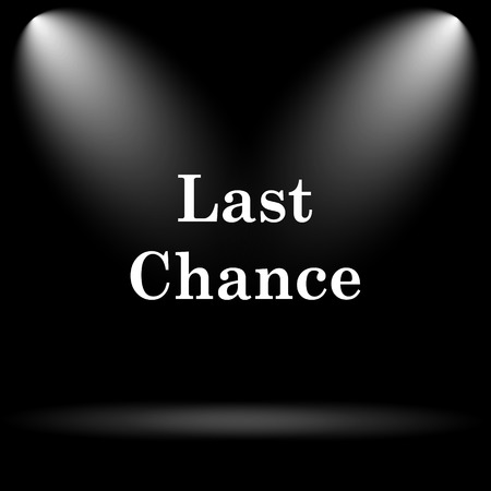 chance: Last chance icon. Internet button on black background.