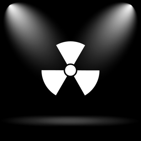 emanation: Radiation icon. Internet button on black background.