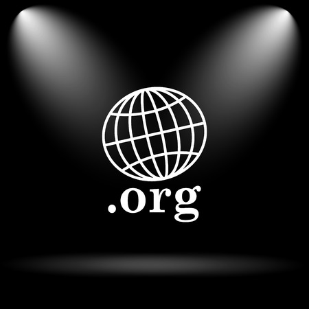org: .org icon. Internet button on black background.