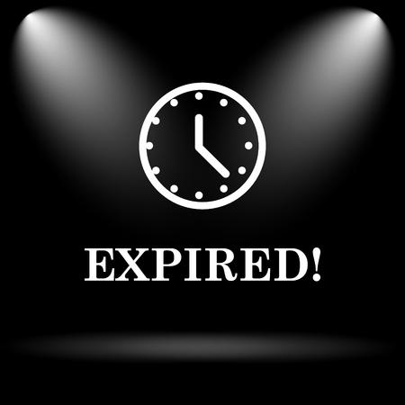 expired: Expired icon. Internet button on black background. Stock Photo