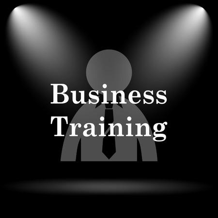 idea hurdle: Business training icon. Internet button on black background.