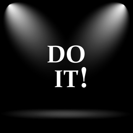 just do it: Do it icon. Internet button on black background. Stock Photo