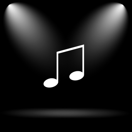 melodic: Music icon. Internet button on black background. Stock Photo